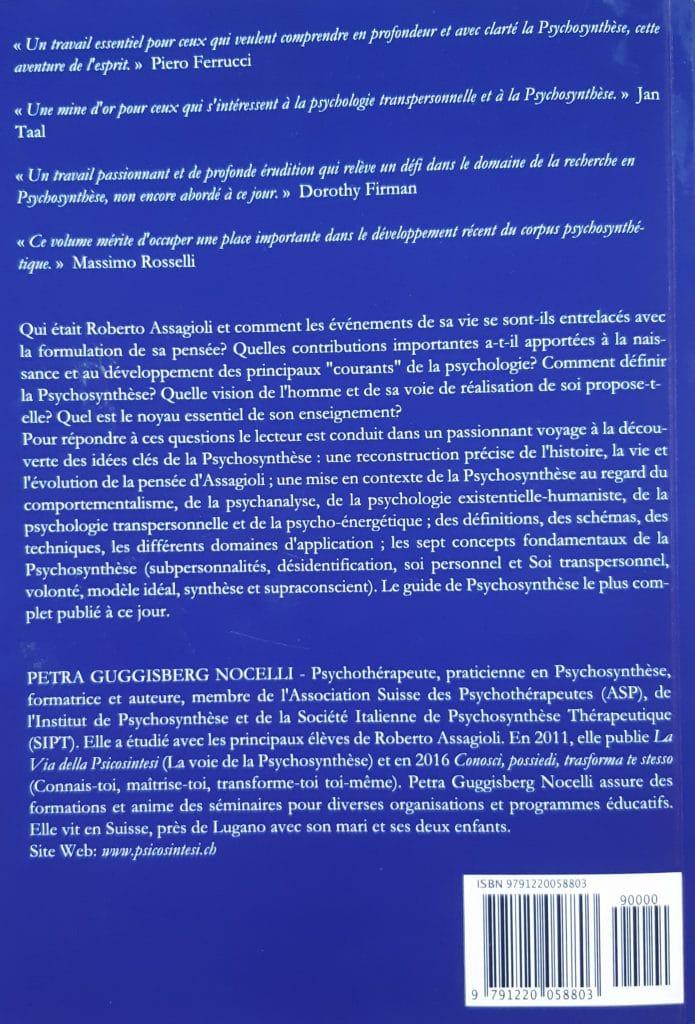 Livre : La voie de la psychosynthèse 4ème de couverture